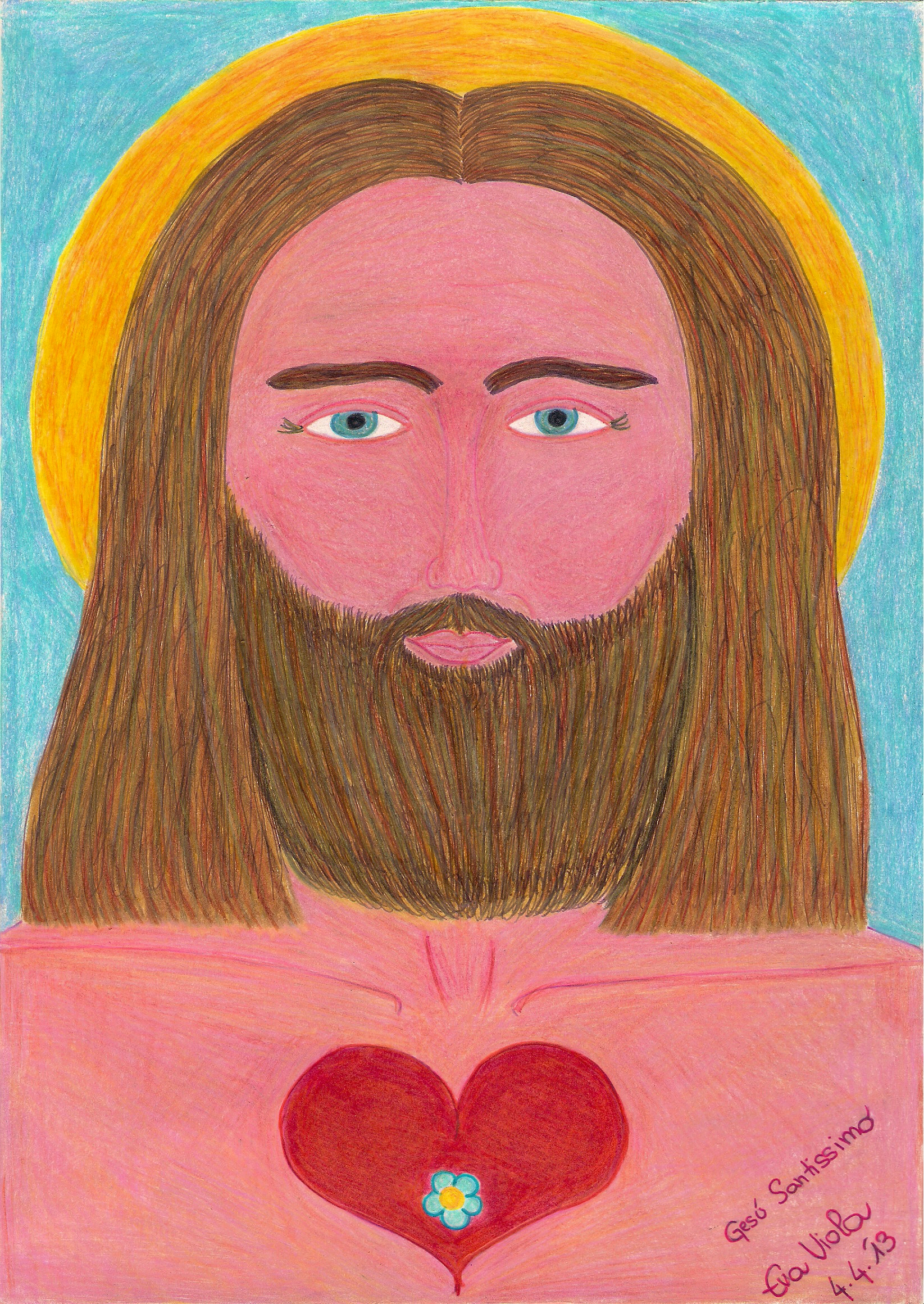 Most Holy Jesus, Sacred Heart | Galactic Art Co-op